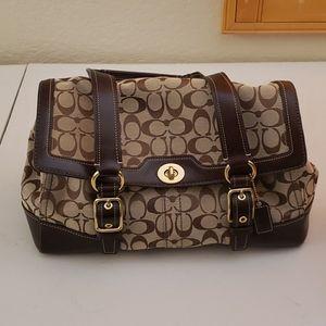 Coach Signature C Bleaker Satchel Handbag